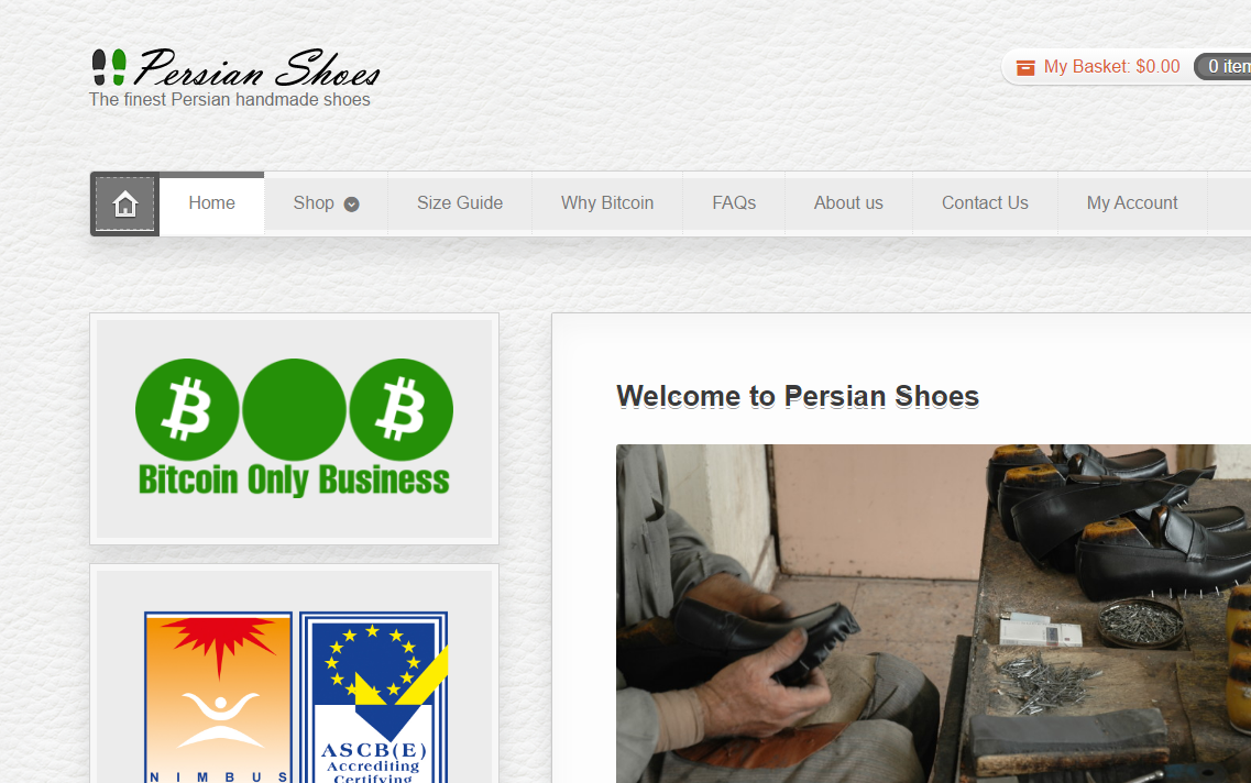 Persian Shoes Website